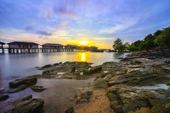 Free Sunset View-3 From Batam Island Riau Indonesia Asia Stock Photography - 107716372