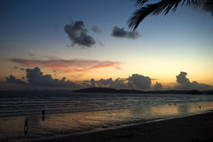 Sunset view along beach 2. A sunset view along beach Stock Images