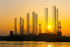 Gulf of Sharjah - Emirates. Sunset view on Arabian Gulf of Sharjah - Emirates Royalty Free Stock Photo