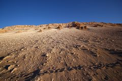 Sunset view of Atacama desert, Chile Royalty Free Stock Photo