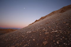 Sunset view of Atacama desert, Chile Stock Photos