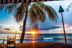 Sunset view of Barbados Beach Stock Photos