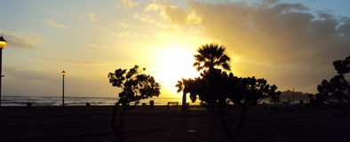 Sunset view by the beachside Royalty Free Stock Photos