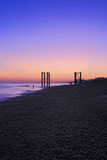 Sunset view of Brighton beach UK. Sunset view of Brighton beach in UK stock image
