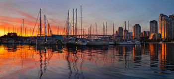 Sunset View from Charleson Park in Vancouver BC Royalty Free Stock Photos