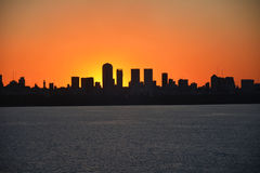 Sunset view of the city Royalty Free Stock Photos