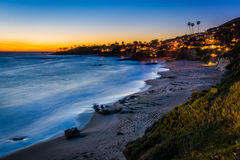 After-sunset view from cliffs at Heisler Park  Stock Images