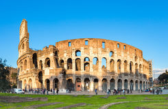 Sunset view of Colosseum in Rome in Italy Royalty Free Stock Images