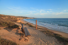 Sunset view at Crystal Cove Beach Royalty Free Stock Photo
