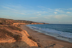 Sunset view at Crystal Cove Beach Stock Images