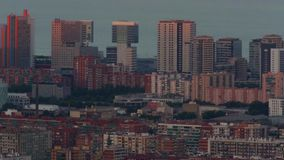 Sunset view district 22 @ in Barcelona.Time Lapse stock video footage