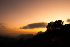 Sunset. The view of the sunset in Doi Angkhang, Thailand Stock Photography
