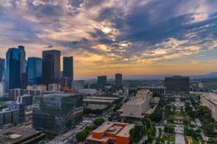 Panorama of Los Angeles Skyline Royalty Free Stock Photography