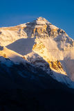 Sunset view of Everest summit at Everest Base Camp. Sunset view of Everest summit Royalty Free Stock Images