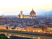 Sunset view of Florence, Italy royalty free stock images