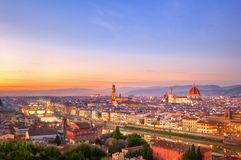 Sunset view of Florence Stock Photos