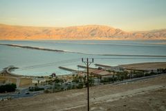Hamei Zohar resort, on the coast of the Dead Sea Royalty Free Stock Photography