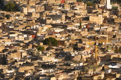 Sunset view on the historic medina of the city of Fes, Morocco, Africa stock image