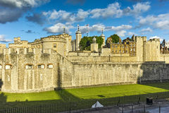 Sunset view of Historic Tower of London, England Stock Image