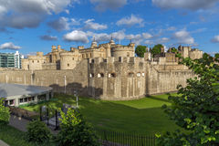 Sunset view of Historic Tower of London, England Stock Images