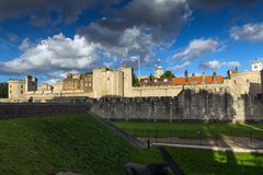 Sunset view of Historic Tower of London, England Royalty Free Stock Photo