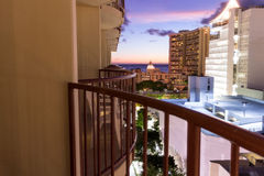 Sunset view from Honolulu hotel Stock Images