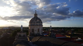 Sunset view from Iglesia La Merced. In Granada Nicaragua Royalty Free Stock Image