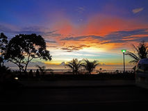 Sunset view from Karon Road stock photography