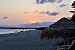 Sunset view in Kenting Taiwan stock photos