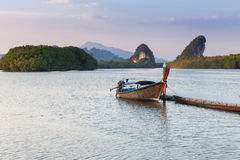 Sunset view of Krabi River, Krabi Town, Thailand Stock Photography