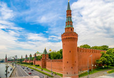 Sunset view of Kremlin in Moscow, Russia.  Stock Photography