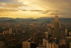 Sunset View of Kuala Lumpur Stock Photography
