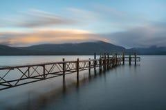 Sunset view of Lake Te Anau royalty free stock photography