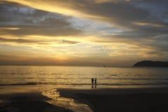 Sunset view at Langkawi Island, Malaysia. Sunset view at one of the beaches at Langkawi Island Malaysia Stock Photo