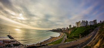 Sunset view on lima Peru Royalty Free Stock Photo