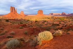 Sunset view at Monument Valley Royalty Free Stock Photography