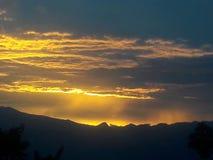 Sunset view. Mountain sunset view Stock Photo
