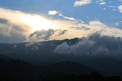 Sunset view mountain Stock Images