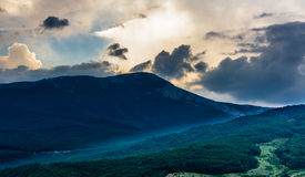 Sunset view on mountain in Crimea Royalty Free Stock Photos