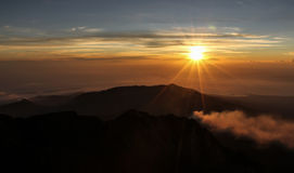 Sunset View From Mt.Rinjani-Lombok,Indonesia,Asia Stock Photography
