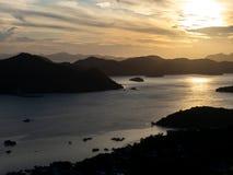 Sunset view from Mt.Tapyas, Palawan royalty free stock image