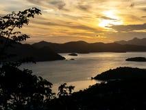 Sunset view from Mt.Tapyas, Palawan royalty free stock photo