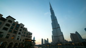 Sunset view near highest building 4k time lapse from dubai Royalty Free Stock Image