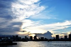 Sunset at odaiba View Royalty Free Stock Image