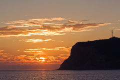 Sunset View Of Point Loma Near San Diego, Californ Stock Photography