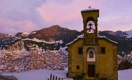 The chapel in Pindus Mountains, Greece Stock Photography