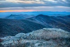 Sunset view over blue ridge Royalty Free Stock Photos