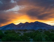 Sunset view over the San Francisco peaks in Northern Arizona 1 royalty free stock photography