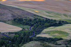 Sunset view of Palouse Stock Photography