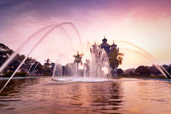 Sunset view of Patuxai arch or Victory Triumph Gate. Laos Stock Photo